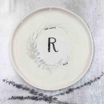 Monogram Woodland Guest Book Platter