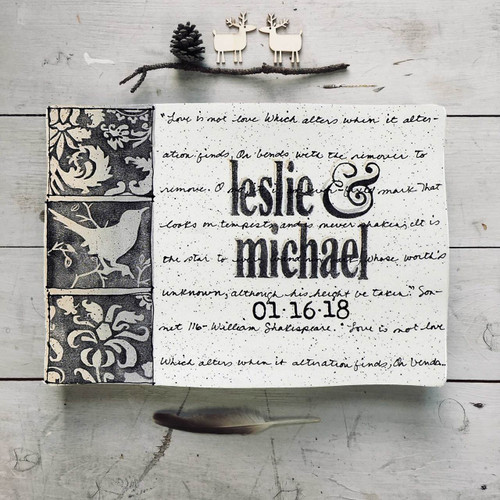 Bird Wedding Invitation Flare