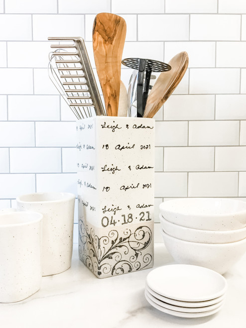 Personalized Vase as Kitchen Utensil Holder