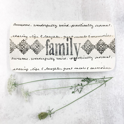 Cursive Family Name Plate
