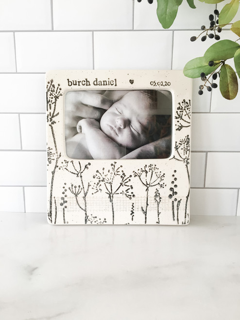 Hand painted, personalized Baby's Breath Photo Frame