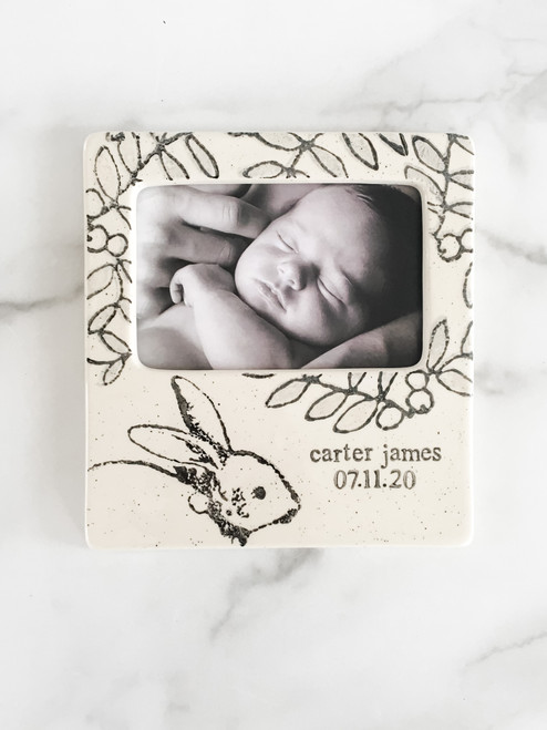 Personalized Baby Bunny Baby Shower Gift Photo Frame