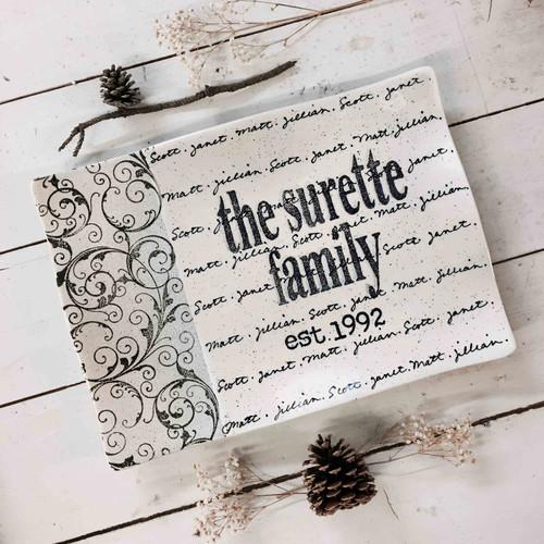 Family Last Name Platter with children names