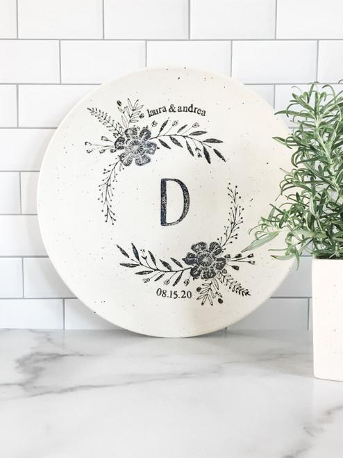 Personalized Monogram Wedding Platter by Museware
