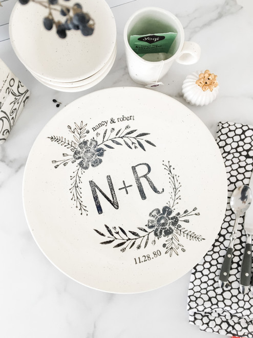Personalized Monogram Wedding Platter by Museware