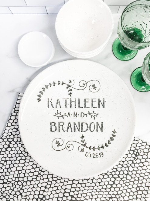 Personalized couple's names wedding platter
