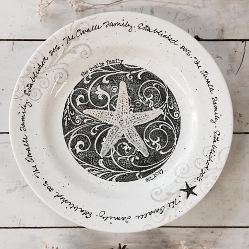 Coastal Family Last Name Plate