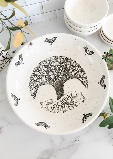Personalized Family Tree Ceramic Serving & Pasta Bowl