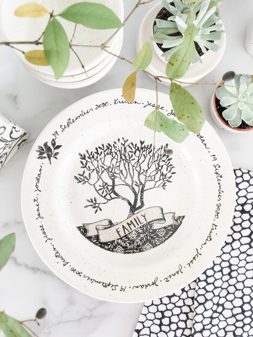 Family Tree Wedding Plate