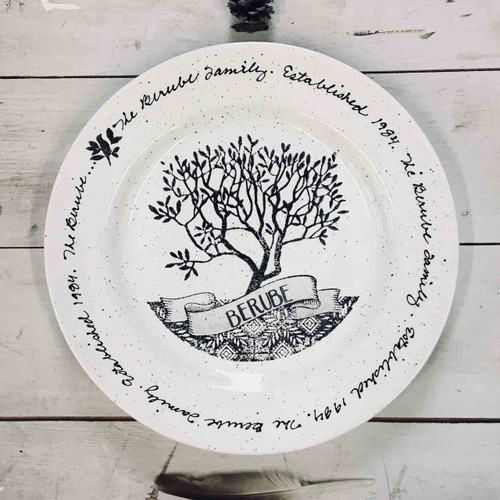 Family Tree Family Gift Plate