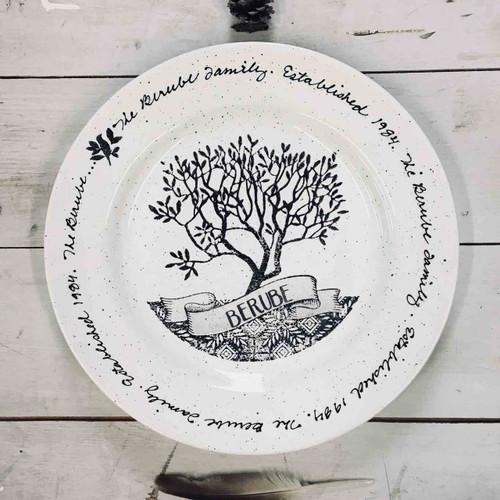 Family Tree Family Name Gift Plate