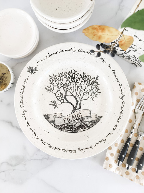 Family Tree Family Name Gift Plate