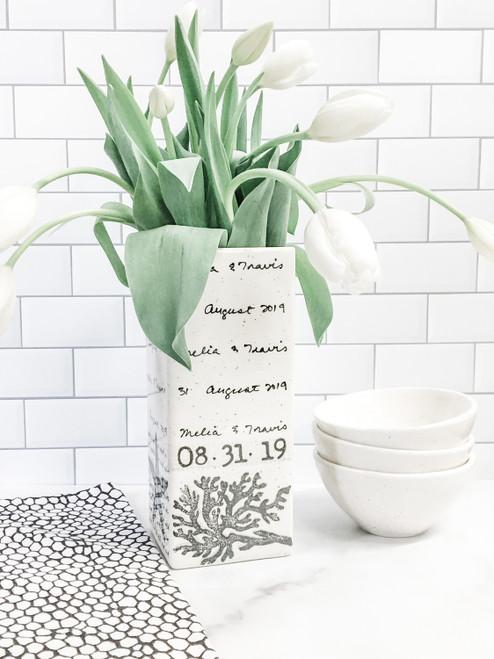 Coastal Beach Wedding Vase for Flowers