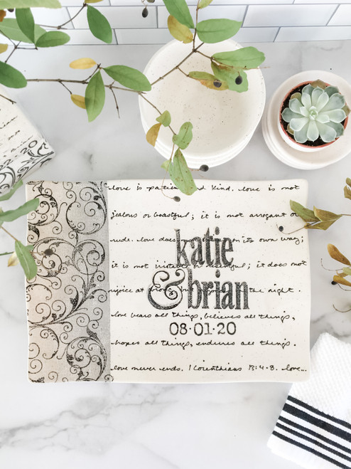 Scroll Wedding Invitation Flare