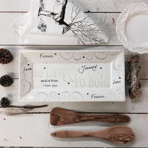 Have & Hold Wedding Platter