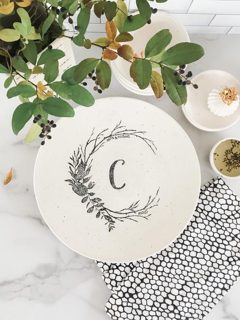 Woodland Monogrammed Serving Platter