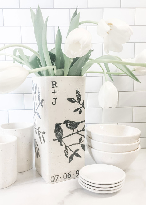 Songbird Personalized Wedding Vase