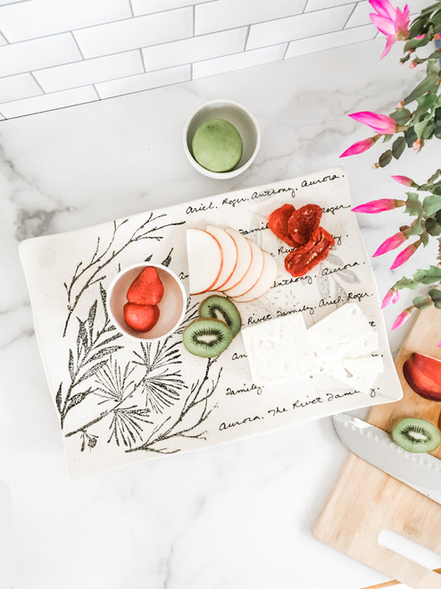 Hand Painted Personalized Meadow Charcuterie Set of 3