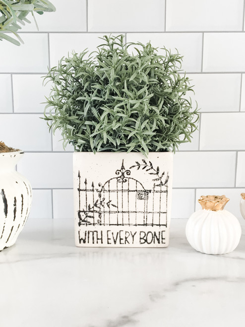 With Every Bone Halloween Themed Herb Vase for Friends & Lovers