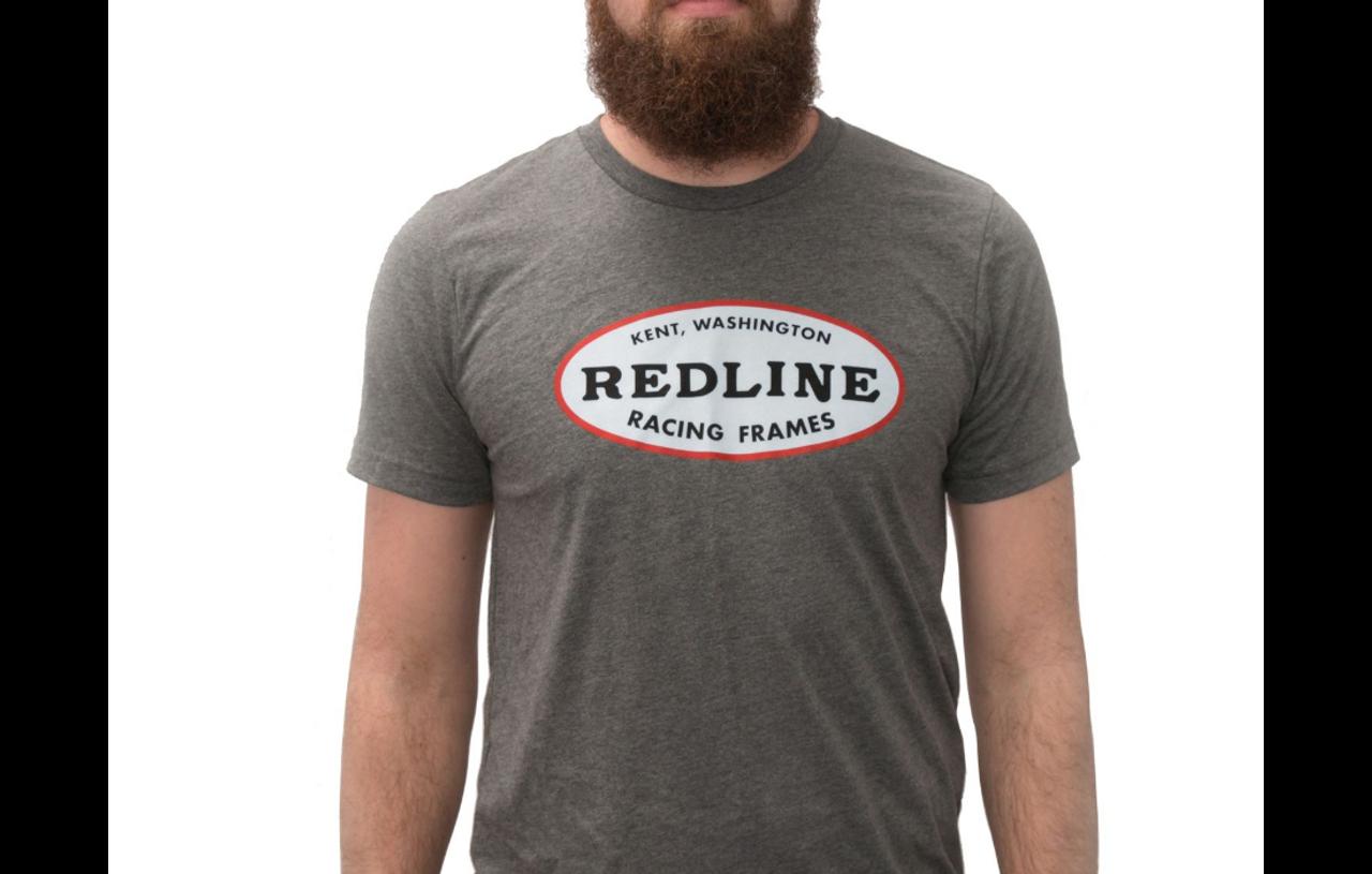 Redline Logo Short Sleeve T-shirt Youth Large White Bmx Bike T-shirt Redline New