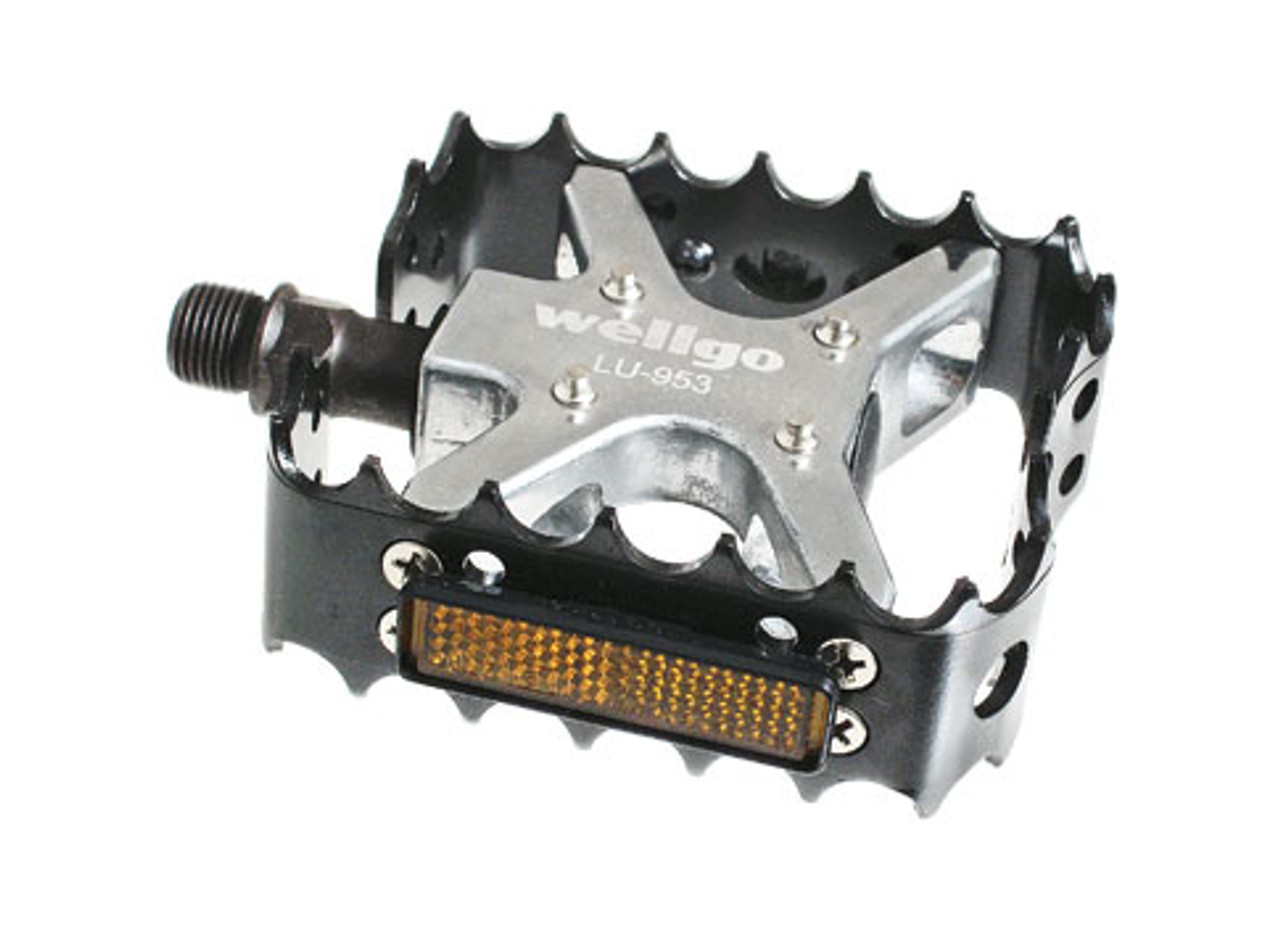"""Details about  /XC-II Wellgo bear trap pedals 9//16/"""" FOR 3PIECE CRANKS Purple Cage Old school BMX"""