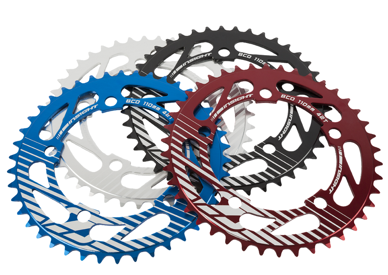 Insight 5-Bolt BMX Chainring 110mm BCD 41T Red