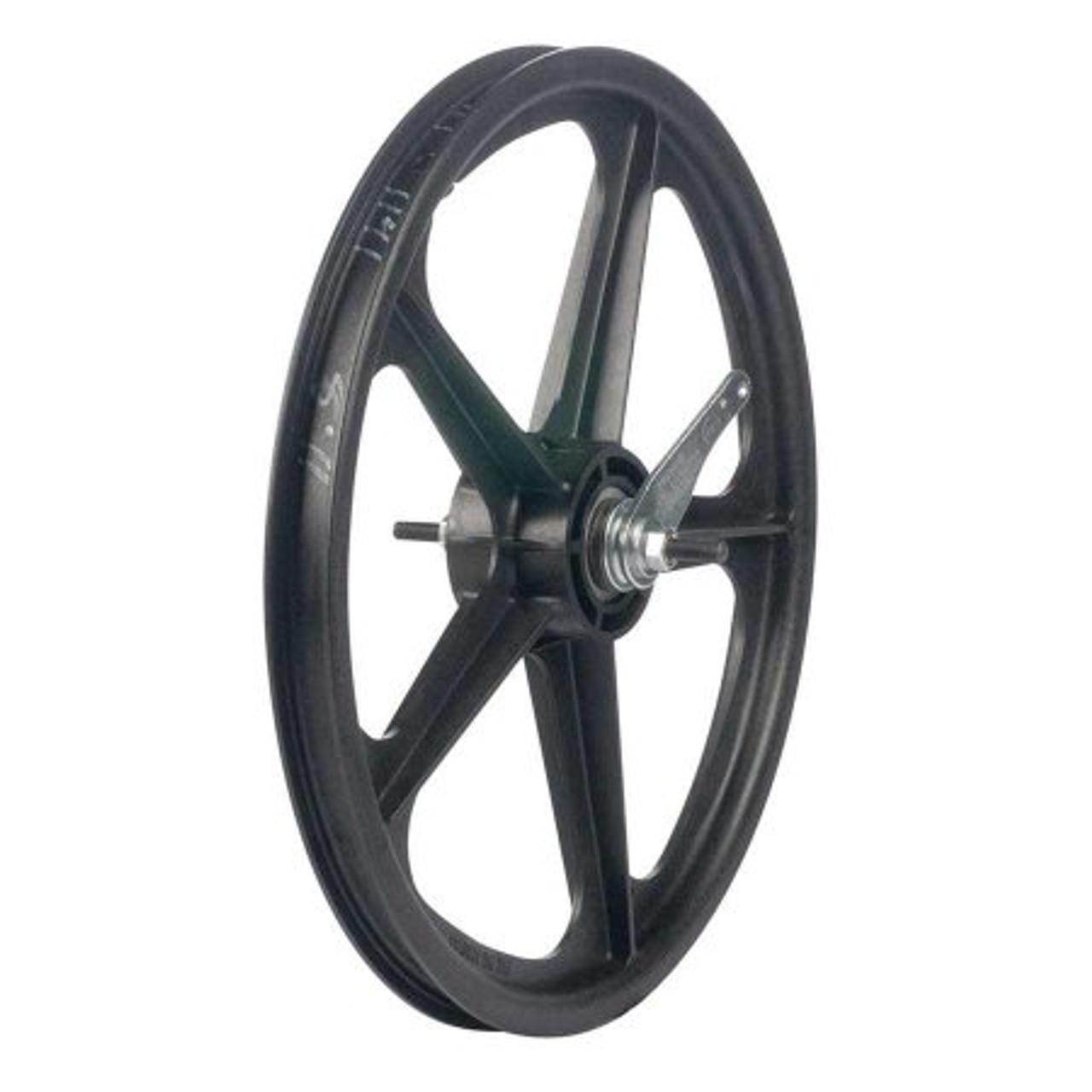"Skyway Tuff Wheel 16/"" BMX Mag Wheels White USA Made"