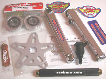Profile 40th Anniversary Cranks  Old School Vintage NOS American BMX Parts. Build your custom bike up with the best cranks in BMX.
