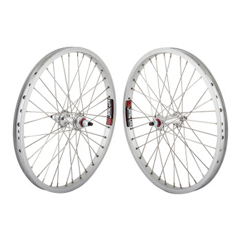 Sun Rhyno Lite Pro 20 Old School Wheels in Silver and Sealed