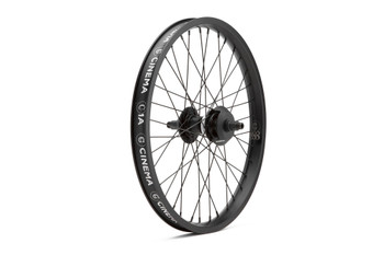 Cinema 888 Rear Freecoaster Wheel Black w/ Polished Hub