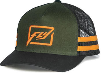 HUCK IT YOUTH HAT ARMY/ORANGE