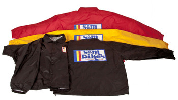 S&M Gold Metal Moto BMX Jacket Windbreaker
