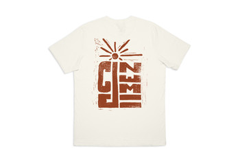 Cinema Linocut Tee Soft Cream