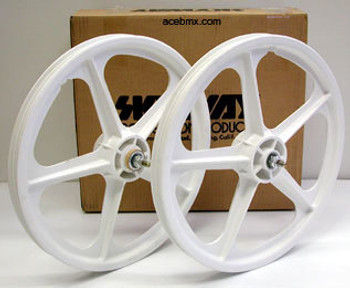 Skyway Tuff Wheels BMX White BMX Mags