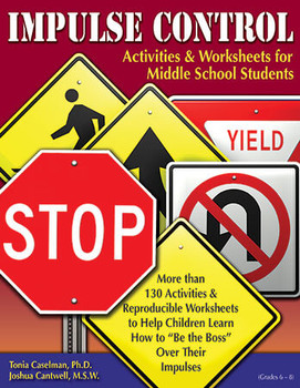 Book cover of  Impulse Control Activities & Worksheets for Middle School