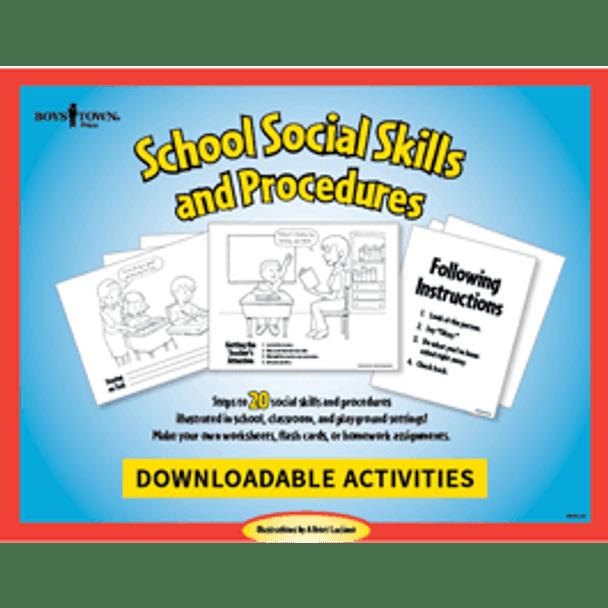 Downloadable School Social Skill & Procedure Posters