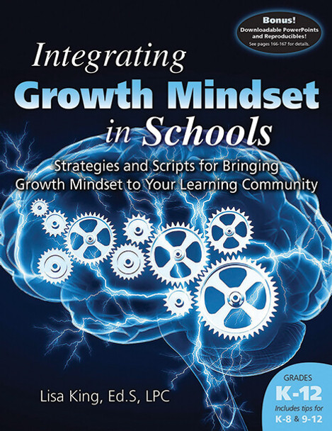 Book cover of  Integrating Growth Mindset in Schools