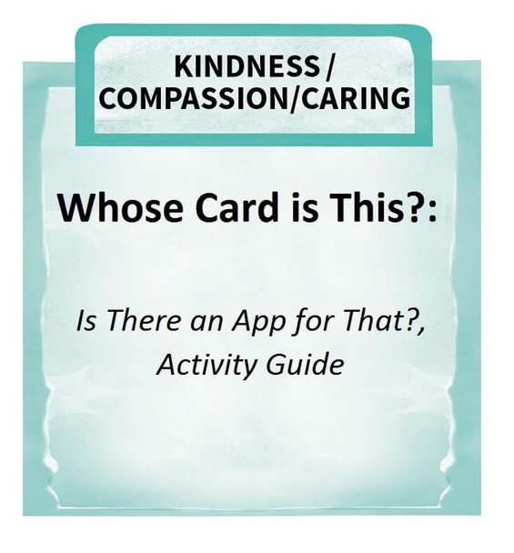 Downloadable Activity: Whose Card is This?, Is There an App For That?