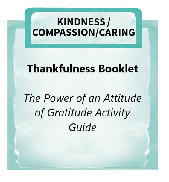 Downloadable Activity: Thankfulness Booklet (The Power of an Attitude of Gratitude)