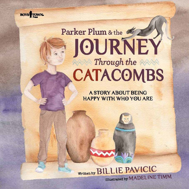 Book Cover of Parker Plum and the Journey Through the CATacombs