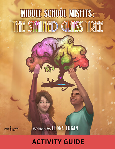 Book Cover of Middle School Misfits: The Stained Glass Tree Activity Guide