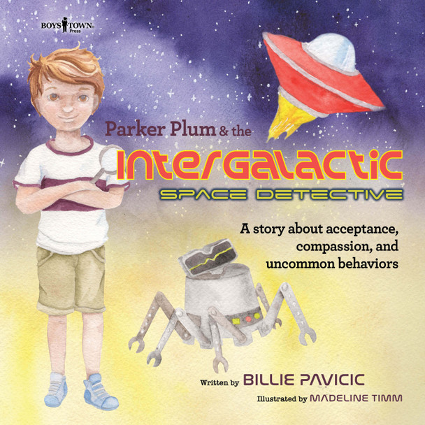 Book Cover of Parker Plum and the Intergalactic Space Detective