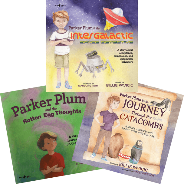 Book Covers of Parker Plum Set of 3 Storybooks