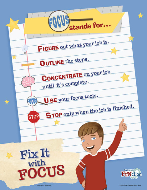 Downloadable Fix It with Focus Poster