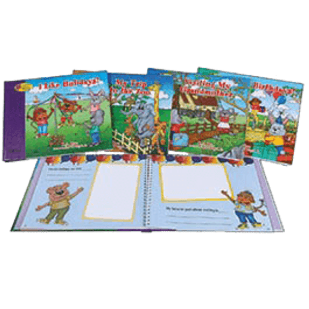 Interactive Book About Me Series, Set of 4