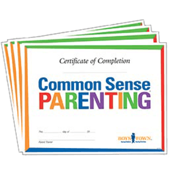 Common Sense Parenting Completion Certificates