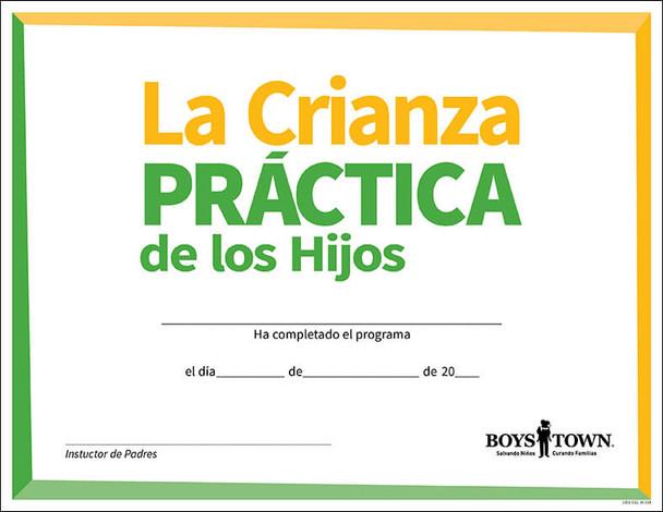 La Crianza Practica de los Hijos Completion Certificates