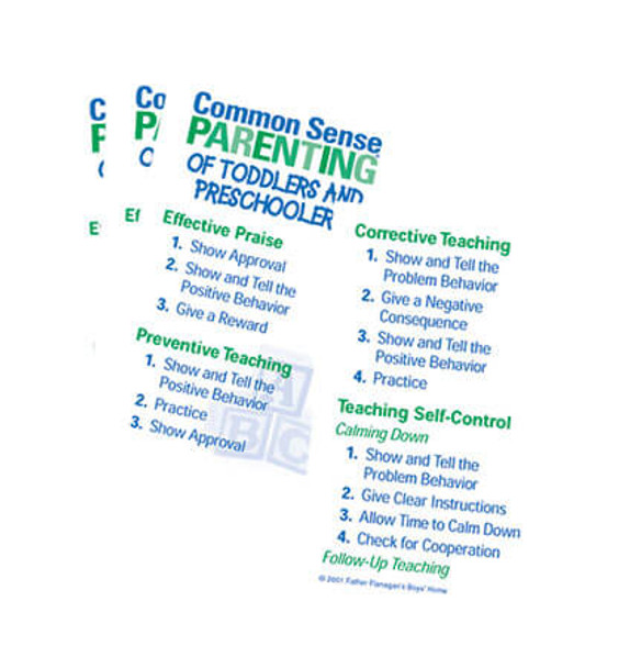 Common Sense Parenting Skill Cards for Toddlers and Preschoolers