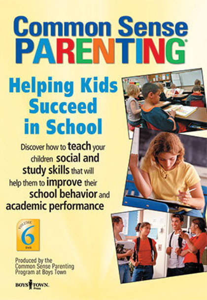 Cover of Common Sense Parenting DVD: Helping Kids Succeed in School, Vol. 6