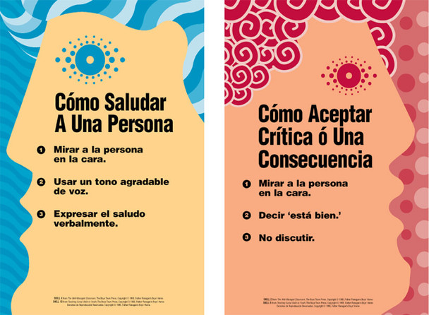 Middle and High School Social Skills Poster Set (Spanish)